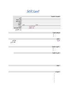 Arabic CV 002