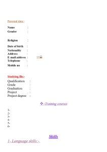 Curriculum Vitae 011